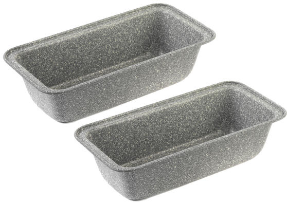 Salter Everest 27cm Grey Marble Coated Loaf pan x 2