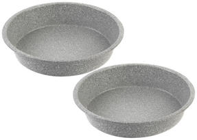 Salter Everest 24cm Grey Marble Coated Round Baking Pan x 2 Thumbnail 1