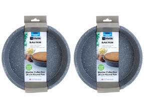 Salter Everest 24cm Grey Marble Coated Round Baking Pan x 2 Thumbnail 2