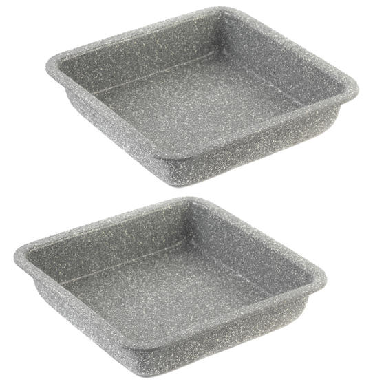 Salter Everest 23cm Grey Marble Coated Square Baking Tray x 2