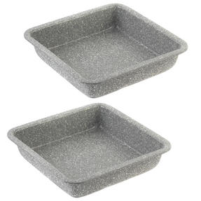 Salter Everest 23cm Grey Marble Coated Square Baking Tray x 2 Thumbnail 1
