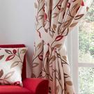 Leonie Chilli Ashley Wilde Pencil Pleat Cotton Pair Curtain Tie Back