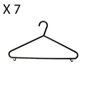 Mix n Match CAB0438 Multi-Purpose Plastic Clothes Hangers, Pack of 7, Black