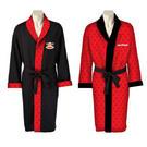 Paul Frank Men's Reversible Dressing Gown Bath Robe Medium Red/black Black