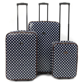 "Constellation 3 Piece Blue Spot Printed Suitcase Set 18"", 24"" & 28"""