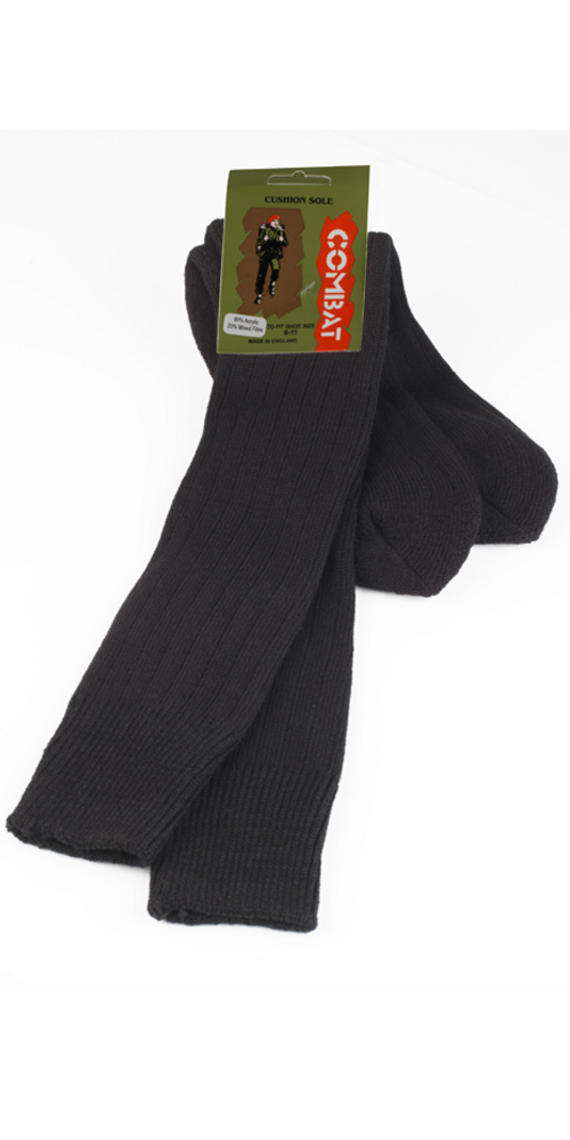 Black Combat Socks With Cushion Sole Size 6-11