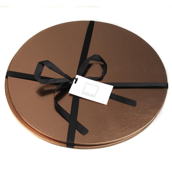 Inspire HY276674AS Luxury Round Metallic Placemats 29cm