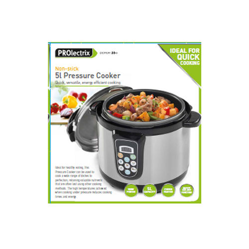 prolectrix 5l non-stick pressure cooker for a quick and efficient