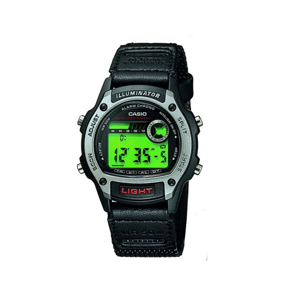 casio mens illuminator digital silver black