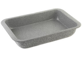 Salter BW02774G Marble Collection Carbon Steel Roasting Pan, 36 cm, Grey