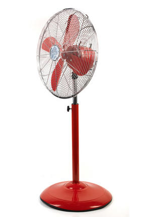 "Beldray Retro 16"" Red Pedestal Fan Thumbnail 1"