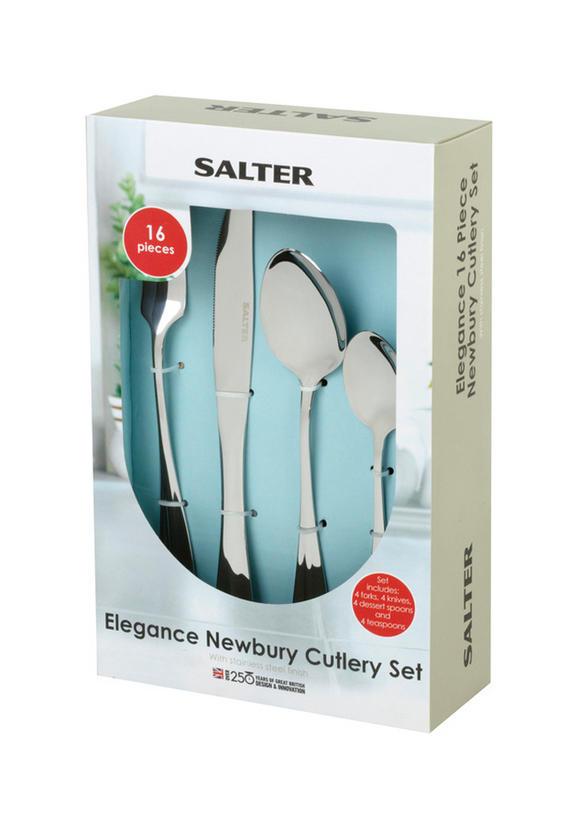 Salter Elegance Newbury 16 Piece Stainless Steel Kitchen Cutlery Set