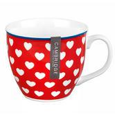 Cambrdige Red Happy Heart Oxford Fine China Mug