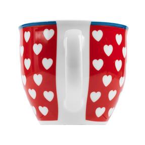 Cambrdige Red Happy Heart Oxford Fine China Mug Thumbnail 3