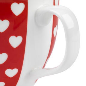 Cambrdige Red Happy Heart Oxford Fine China Mug Thumbnail 4