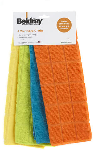 Beldray 4 Pack Microfibre Cloths Assorted Colours Thumbnail 4