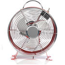 "Beldray 9"" Clock Fan Red"