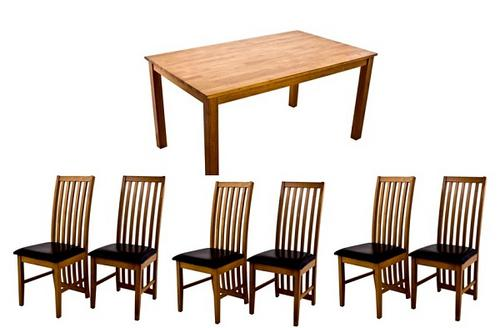 Ashleigh dining table size 90cm x 160cm x 74cm complete for Ashleigh dining set