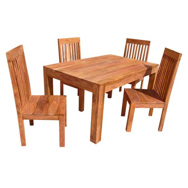 Assam sheesham dining table with 4 chairs homewares for Sheesham dining table