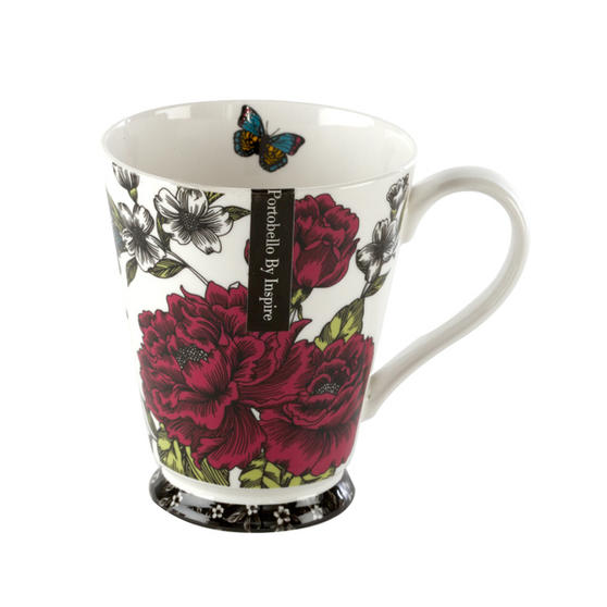 Portobello Buckingham Butterfly Garden Bone China Mug