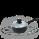 Russell Hobbs Black 18cm Ceramic Coated Sauce Pan