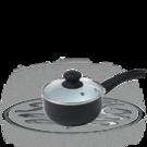 Russell Hobbs Black 20cm Ceramic Coated Sauce Pan