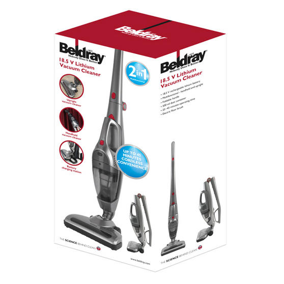Beldray Silver 18.5 volt Rechargeable 2 In 1 Stick Vac Vacuum Thumbnail 3