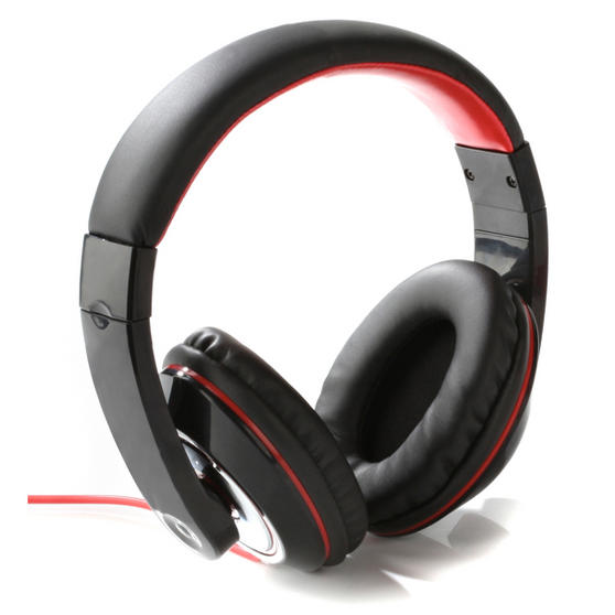 Intempo Black and Red Over-Ear Headphones