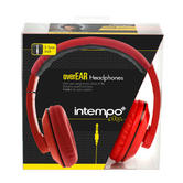 Intempo Red and Black Over-Ear Headphones Thumbnail 2