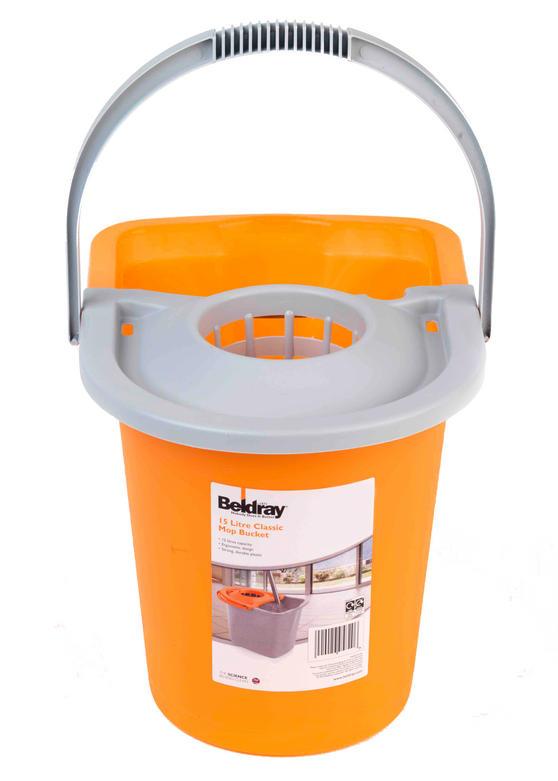 Beldray Orange 15 Litre Mop Bucket Thumbnail 1