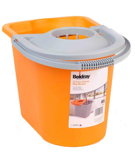 Beldray Orange 15 Litre Mop Bucket Thumbnail 2
