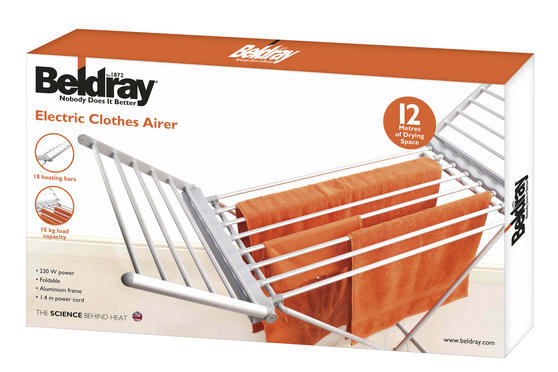 Beldray Electric Foldable Clothes Airer With Wings Thumbnail 5