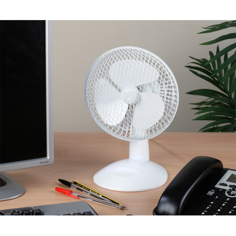6 Inch Desk Fan : Beldray inch white desk fan no brands you