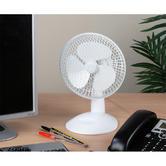 Beldray 6 Inch White Desk Fan