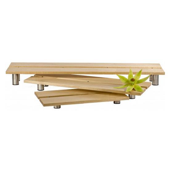 Oneida Buffet Euro Ww 3000 Bamboo Display Riser Set