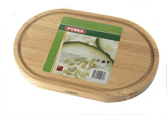 Pyrex Wooden Chopping Board 36 x 24 cm