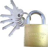Green Jem 38 mm Brass Padlock