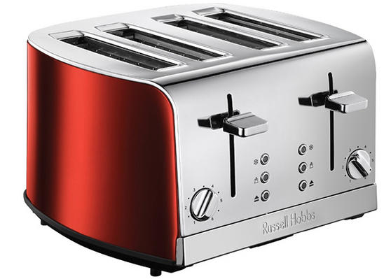 russell hobbs 19700 jewels 4 slice toaster ruby red kettles toasters no1brands4you. Black Bedroom Furniture Sets. Home Design Ideas