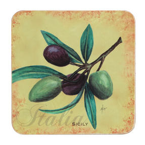 Indulje Luxury Olive Oil Placemat and Coaster Set, Cork, Set of 4 Thumbnail 3
