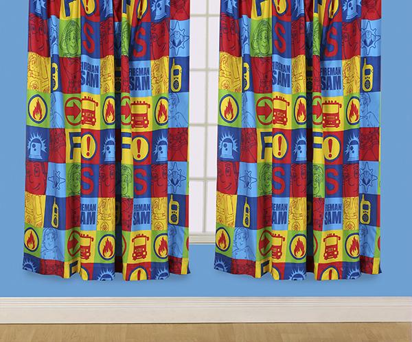 "Fireman Sam Duty Curtains - 72"""