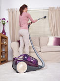 Hoover Velocity Cylinder Vacuum Cleaner VE11001, 2.5 Litre, 850 Watt - Purple and Champagne Thumbnail 7