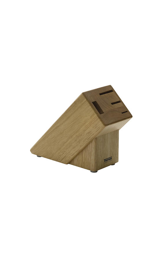 Thomas 4 Piece Rubberwood Knife Block