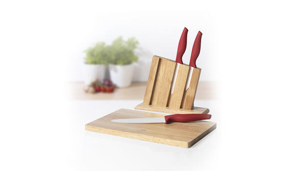 Salter 3 Piece Knife Block Set With Chopping Board Knife