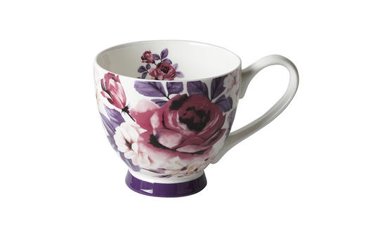 Portobello Footed Aurora White Bone China Mug