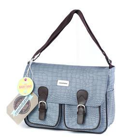 Constellation LG00389BLUMO Mock Croc Baby Nappy Changing Bag, Duck Egg Blue