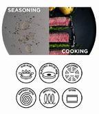 Russell Hobbs BW04199 Infinity Carbon Steel Frying Pan, 24 cm, Grey Thumbnail 3