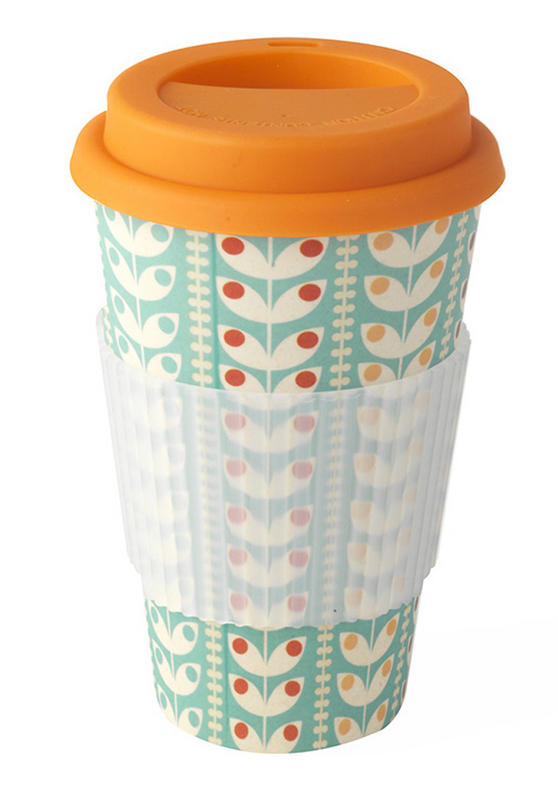 Cambridge CM04438 Bamboo Retro Daisy Eco Travel Mug