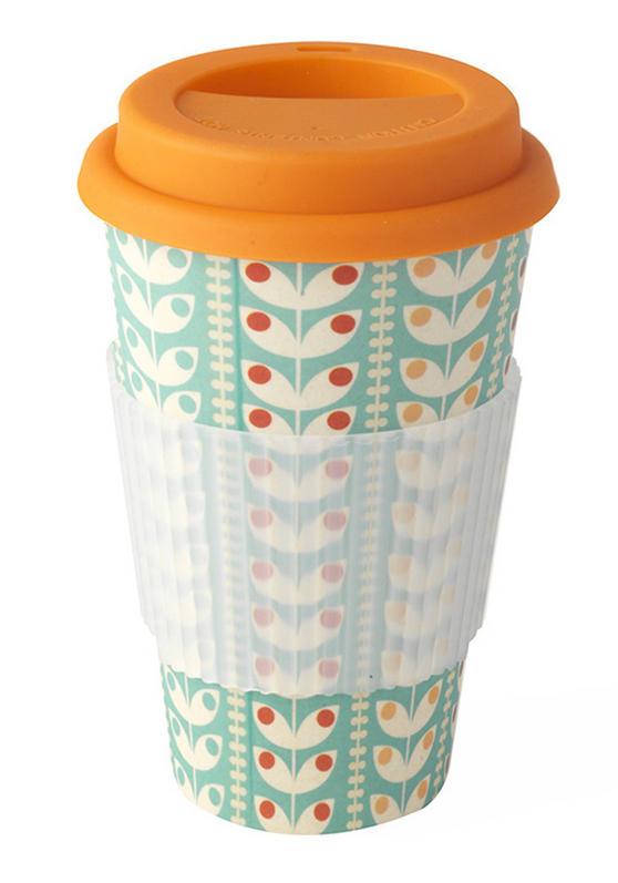 Cambridge Bamboo Retro Daisy Eco Travel Mug