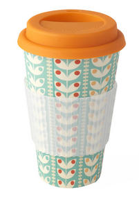 Cambridge CM04438 Bamboo Retro Daisy Eco Travel Mug Thumbnail 1