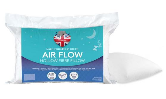 Dreamtime MF02575UP Airfresh Breathable Pillow, Polyester, White